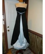 Urban Girl NItes size 3/4 Strapless Black/Blue Formal Prom Pageant dress... - $34.99