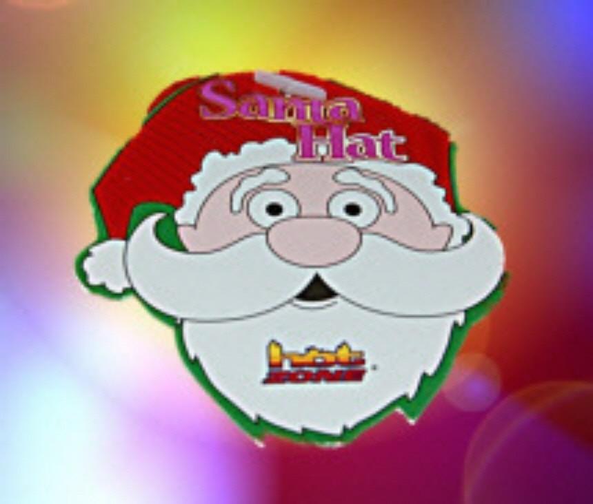 Hot Zone Santa Hat Plush Red White