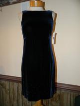 Ralph Lauren size 6 Rayon/Silk Acetate lined Velvetine Beaded Evening dress NWT - $37.69