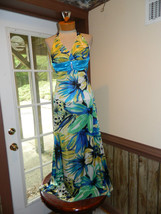 B.Darlin Tropical Floral Blue Prom Pageant Cruise dress size 3/4 Preloved EUC - $59.99