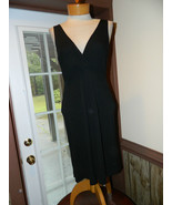 Lauren Ralph Lauren size Medium Black Rayon/Polyester Cocktail dress Pre... - $24.99