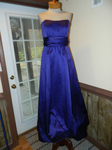 David's Bridal size 14 Purple Strapless Formal Prom Pageant Cruise dress... - $37.99