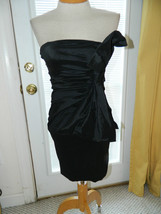 Planet Gold Couture size Medium (fits small) Black strapless Cocktail dress EUC - $25.99