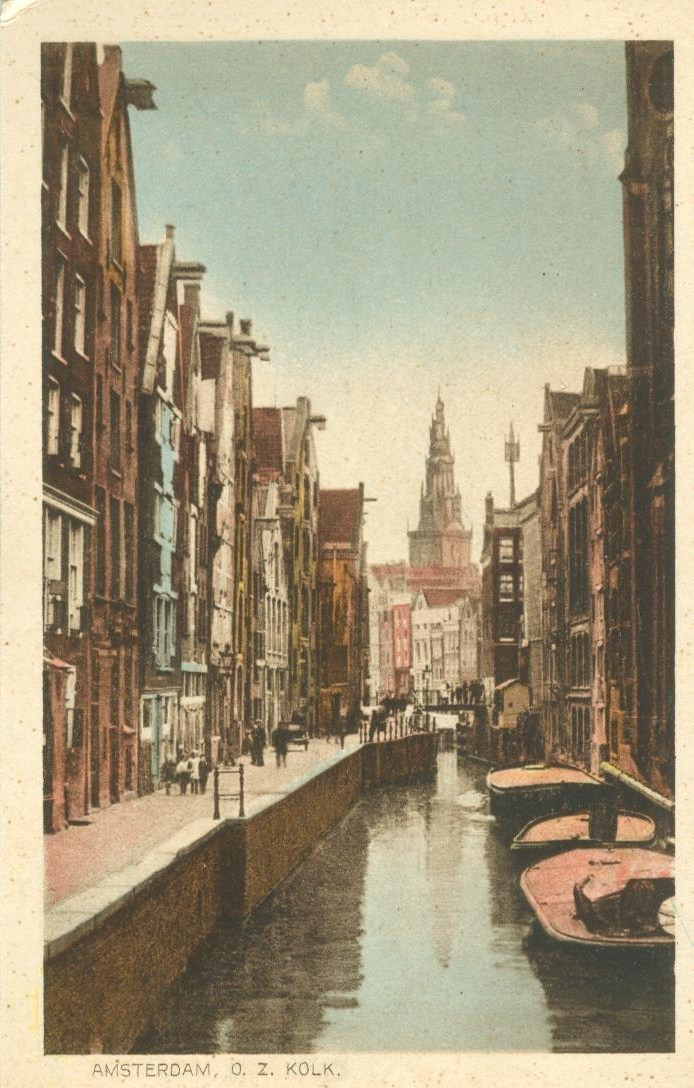 Netherlands, Amsterdam, O. Z. Kolk, early 1900s unused Postcard