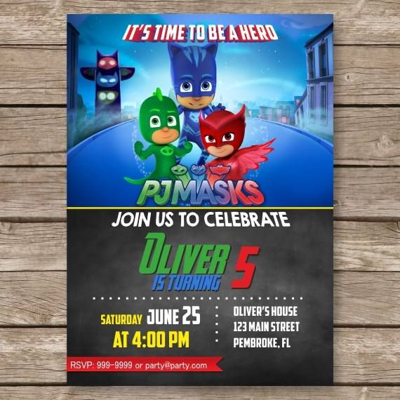 PJ Mask Invitation Pj Masks Birthday Party And 50 Similar Items Pjmask1