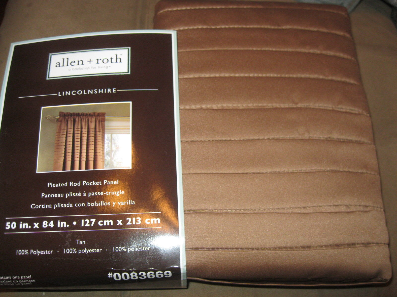 Home » Mcanns booth » Allen Roth Lincolnshire Rod Pocket Panel Drape ...