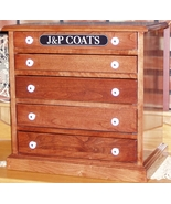 Dark Cherry Split Drawer Floss Cabinet handcraf... - $315.00