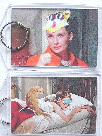 Breakfast at tiffany s bat cat mask bed keychain to post