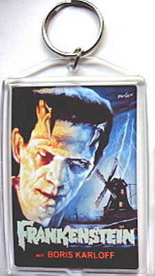 FRANKENSTEIN KEYCHAIN KEY CHAIN WINDMILL POSTER BORIS KARLOFF 1931 MONSTER