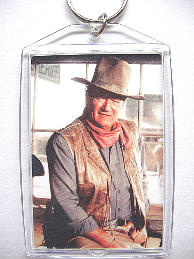 John wayne sheriff keychain photo