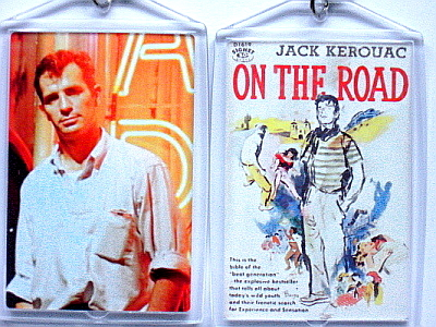 JACK KEROUAC ON THE ROAD KEYCHAIN SAL PARADISE NEAL DEAN MORIARTY
