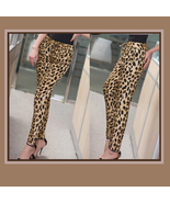 Leisure Loose Brown Leopard Print Pants with Elastic Waist - $42.95