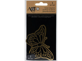 Art-C Brass Butterfly Stencil #22215