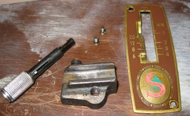 Singer 329K Stitch Length/ Reverse Feed Lever Assembly w/Cover & Mountin... - $12.50
