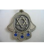 3 gems hamsa keychain Star of David Jerusalem KeyRing Hebrew Travelers P... - £5.87 GBP