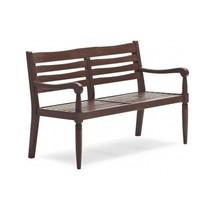 Dark Wooden Loveseat Park  Bench Outdoor Patio Garden 2 Seat Furniture B... - £176.60 GBP