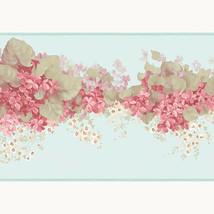 Pink Flowers Grean Leaf Wallpaper Border Patton Norwall PP79470DC Pretty... - $16.99