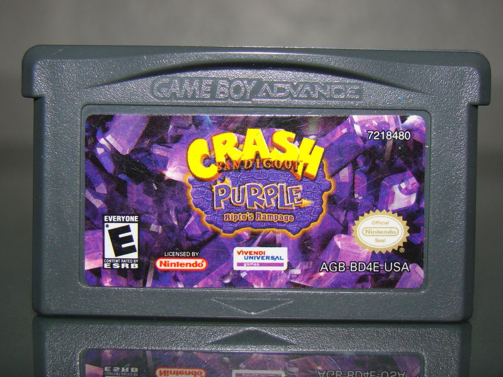 Nintendo GAMEBOY ADVANCE - CRASH BANDICOOT - PURPLE Ripto's Rampage
