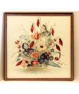Framed A Renee Dollar Signed and Numbered Floral Print ca 1987 - $74.99