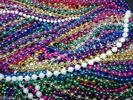 "12 Xlong Choice 48"" 60""  72"" 90"" Lot Mardi Gras Beads Parade Throws Part... - $9.39+"