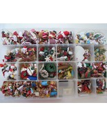Vintage Christmas Easter Miniatures LARGE LOT Ornaments Buttons Crafts i... - $49.99
