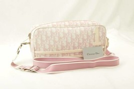 Christian Dior Trotter Canvas Shoulder Bag Pink PVC Canvas Auth 11119 - $280.00