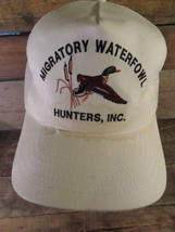 MIGRATORY WATERFOWL HUNTERS Inc Made In USA Vintage Snapback Adult Cap Hat - $16.82