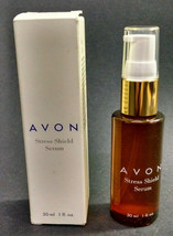 Vintage NOS Avon Stress Shield Serum, Pump Bottle, 1 Ounce - $6.76