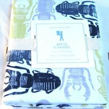 "Pottery Barn Kids BEETLE Standard Pillowcase Green Gray Navy 30 x 20"" NEW - $21.62"