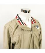 Napapijri Geographic Mens XL Expedition Jacket Full Zip Beige Cotton Blend  - $59.95