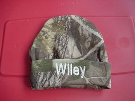 Personalized Baby Infant Newborn Hat Cap Camo Camouflage Hunting Boy Girl - $19.99