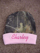 Personalized Camo Girls Mossy Oak/Realtree Hat Beanie Infant Newborn Baby - $19.99