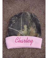 Personalized Camo Girls Mossy Oak/Realtree Hat Beanie Infant Newborn Baby - $19.99