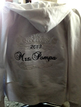 Personalized Bridal Bride  Mrs. Soon to be Hoodie Hoody Sweatshirt Honey... - $45.99