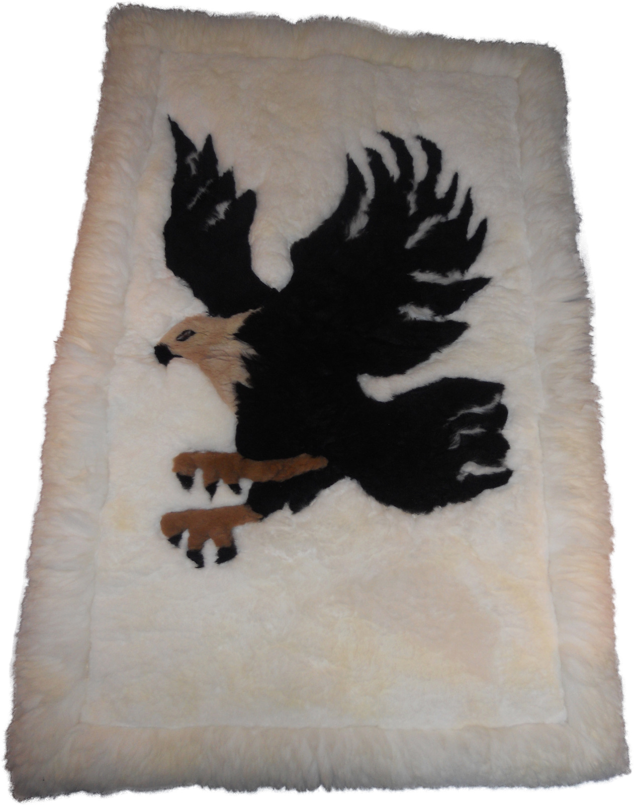 Rustic American eagle Unique alpaca rug 44 inches X 28 inches by aspenandes