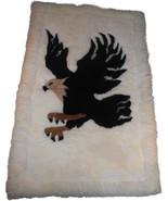 Rustic American eagle Unique alpaca rug 44 inch... - $140.00