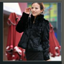 Elegant Soft Mink Faux Fur Coat Jacket with Mandarin Collar in 6 Colors image 2
