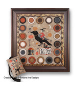 The Witch, The Crow, The Pumpkin cross stitch chart Barbara Ana Designs - $10.80