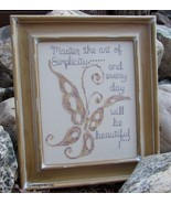 The Art of Simplicity cross stitch chart Designs by Lisa - $6.30