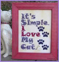 I Love My Cat cross stitch chart Designs by Lisa - $6.30