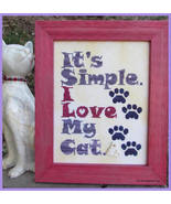 I Love My Cat cross stitch chart Designs by Lisa - $6.30