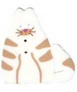 "Large White Cat 1150L handmade clay button 1"" Just Another Button Company - $2.50"