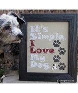 I Love My Dog cross stitch chart Designs by Lisa - $6.30