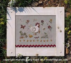 Bucoclic Walk chicken rooster cross stitch chart Filigram - $9.90