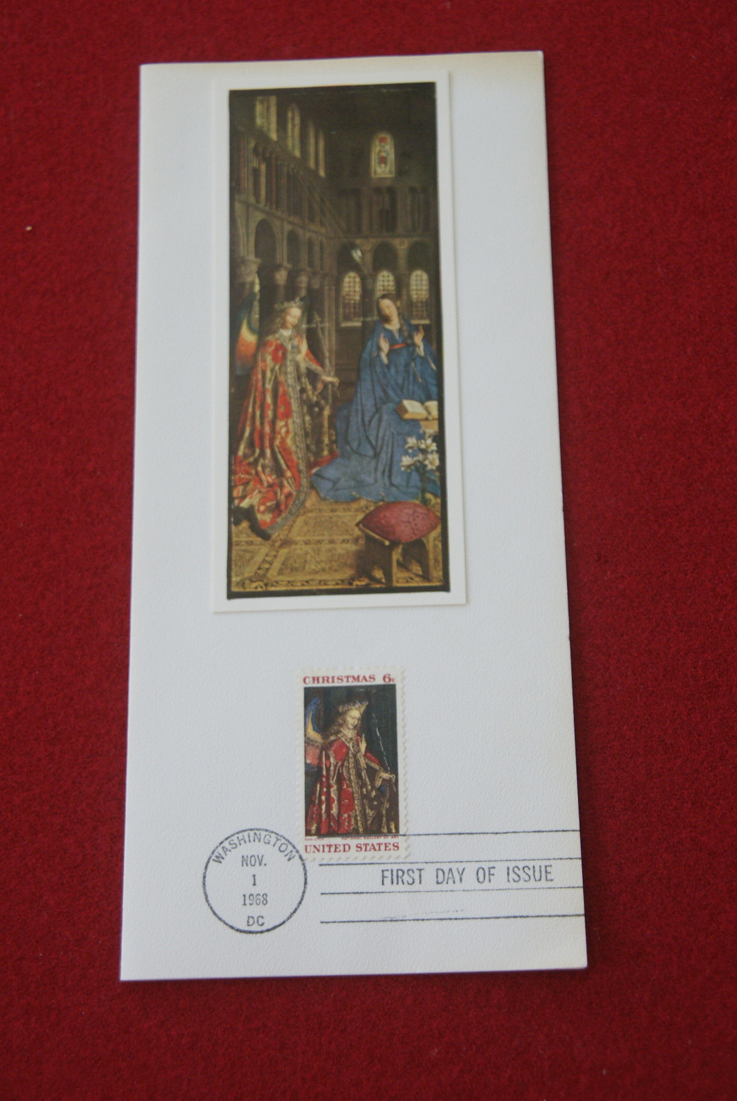 US 1968 First Day Of Issue Christmas Card