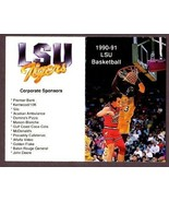 """1990-91 LSU TIGERS """"SHAQUILLE O'NEAL"""" BASKETBALL POCKET SCHEDULE - $39.55"""