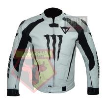 DAINESE 1010 WHITE WATERPROOF COWHIDE LEATHER MOTORBIKE MOTORCYCLE ARMOR... - $289.99