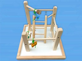 Bird Play Gym For Parrotlets, Budgies, Love Birds, With Ladd,Swing,Toys ... - £19.09 GBP