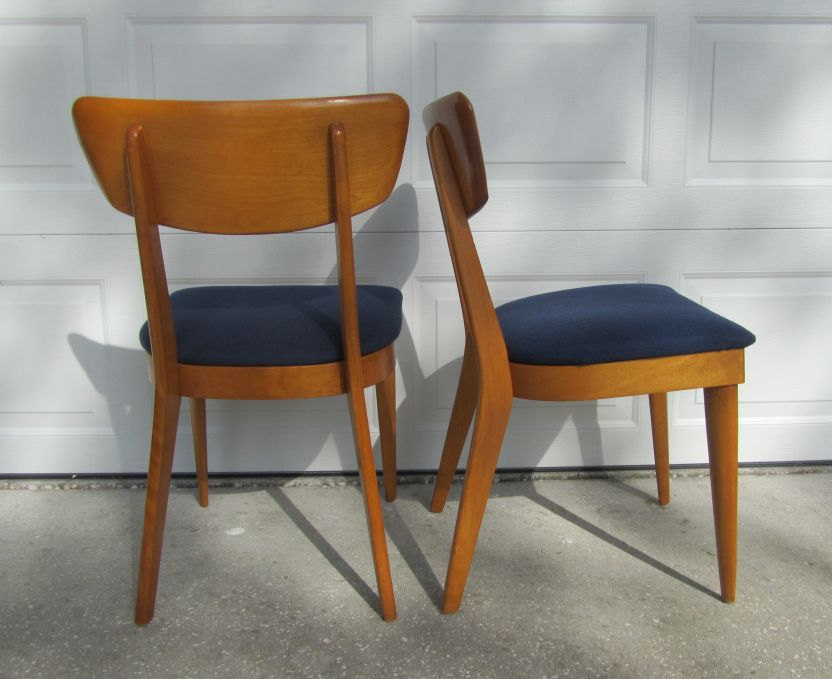 6 heywood wakefield 1950s chairs vintage mid century for Retro modern dining chairs