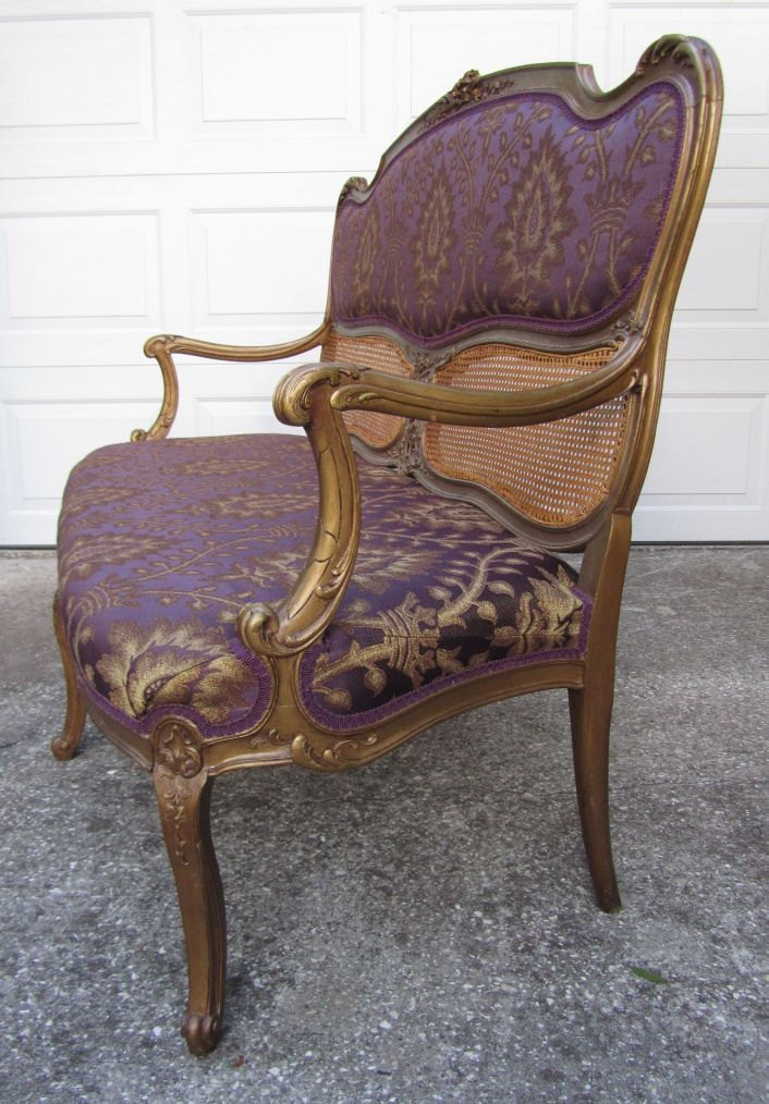 Restored 1800 antique french settee loveseat love seat for Antique french chaise